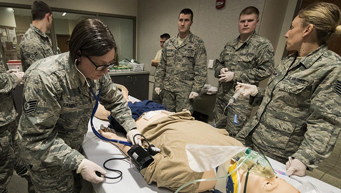 141st MDG Guardsmen gain valuable skills at WSU College of Nursing